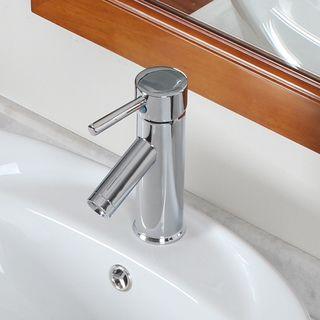 Elite Luxury Short Chrome (Grey) Lavatory Faucet/ Downward Spout ...