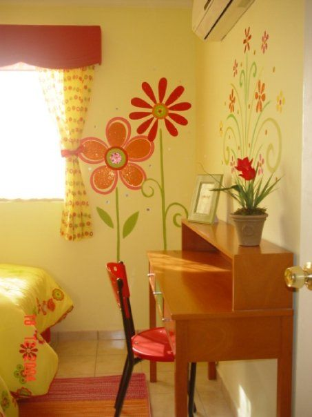 Decoracion dise o y pintura en muros recamara de ni as for Decoracion habitacion bebe pintura