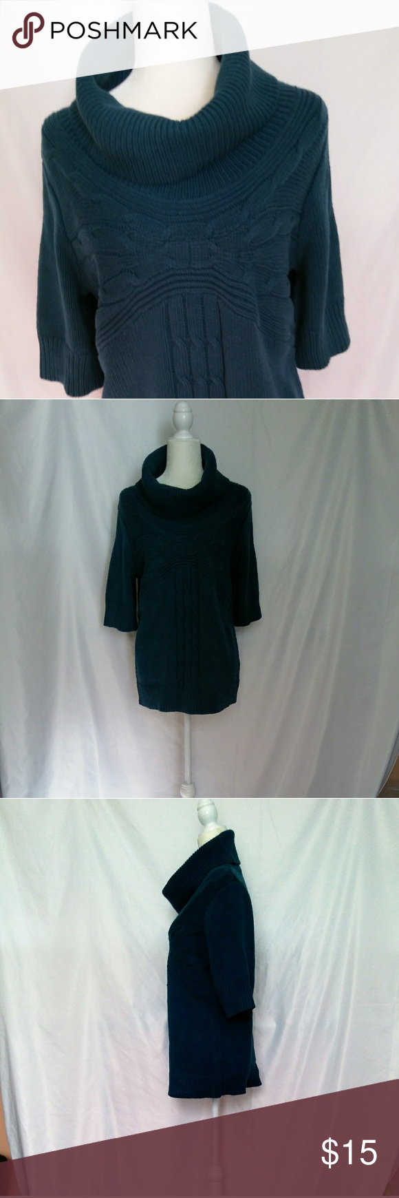 Apartment 9 Size Large Teal Sweater Apartment 9 Large Teal Sweater