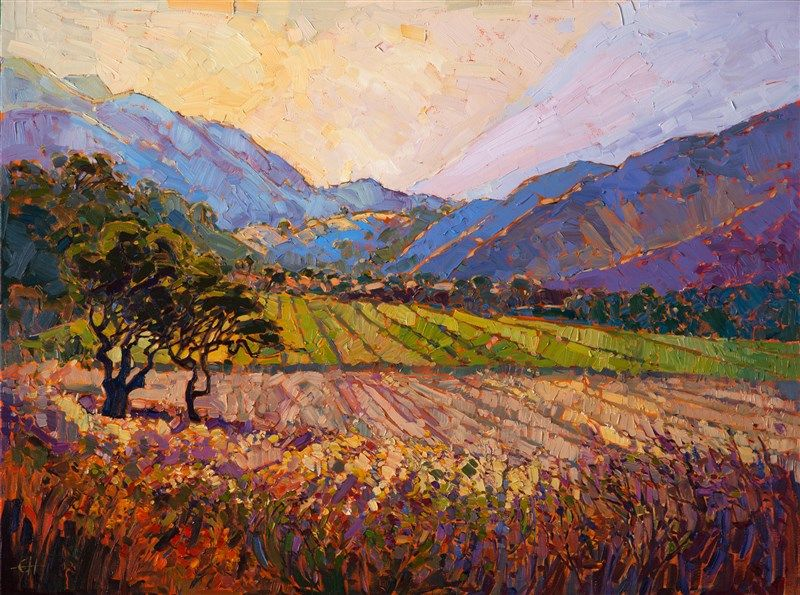 Carmel Valley Beautiful California Landscape Painting In A Contemporary Impressionist Style Fine Art Prints Artists Fine Art Painting Erin Hanson