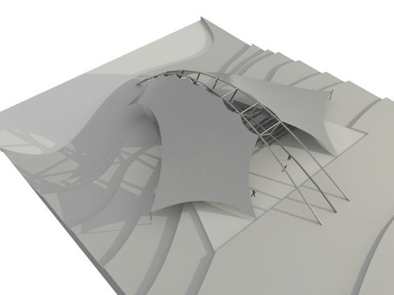 Tensile Structure Mambrane Pinterest Architecture - Tensile architecture