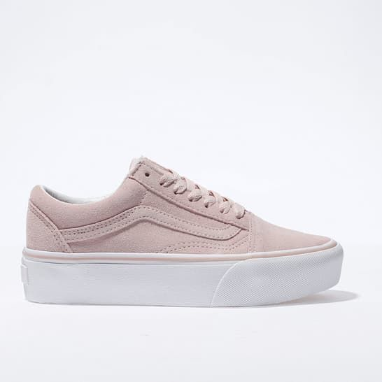 7c7e5e8be1 womens pale pink vans old skool platform trainers