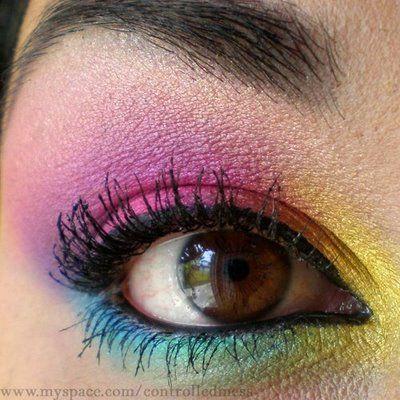 Colored eye.