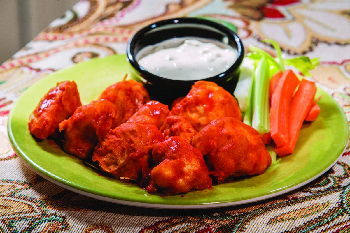 Perfect for game day or a party, these Cauliflower Buffalo Bites will disappear quickly.