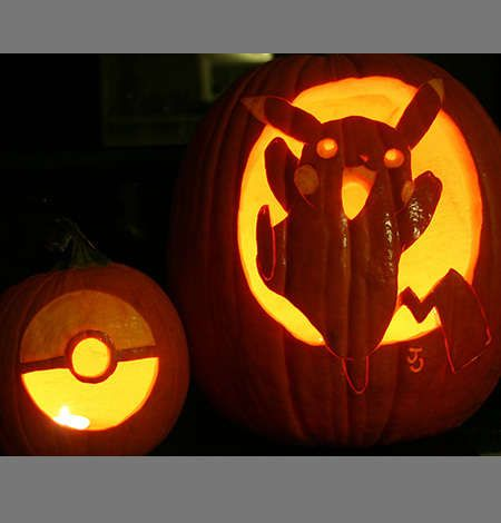 Pokemon Halloween jack-o-lanterns - If you're an anime fan and pumpkin carving is your thing, you should find a lot of great inspiration in these Pokemon Halloween jack-o-lanter...