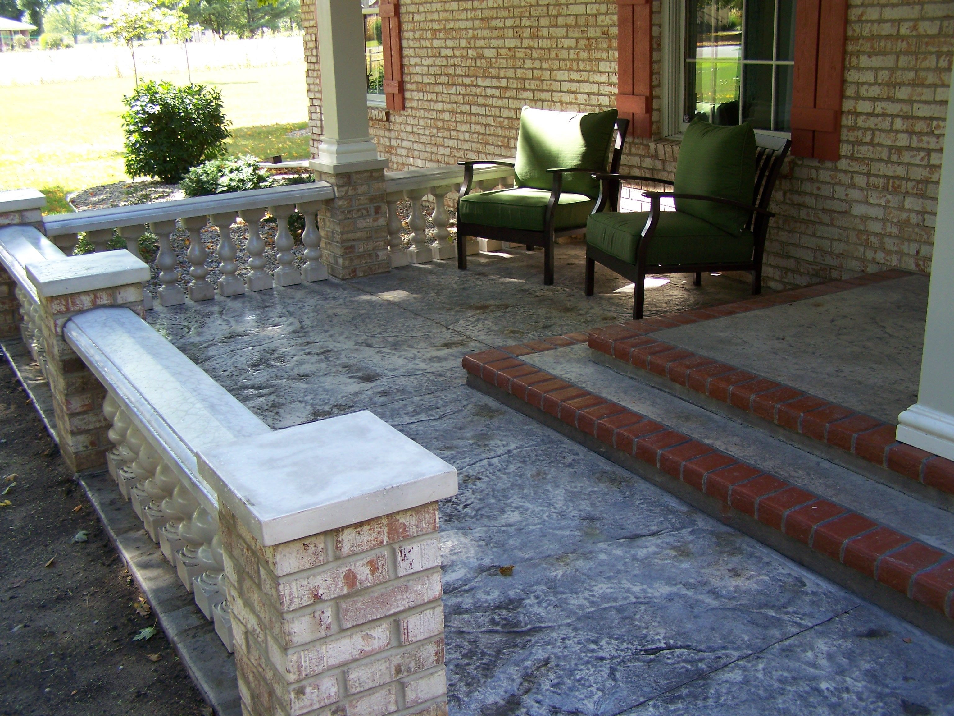 The concrete whisperer great effects done on for Front porch patio ideas