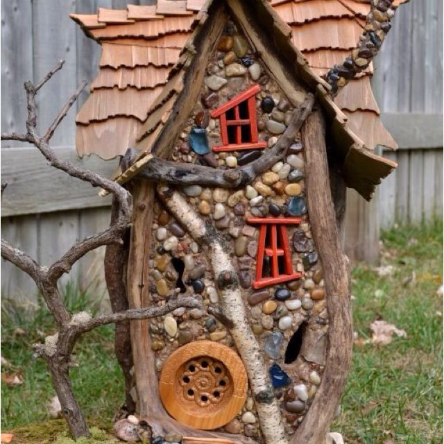 home made fairy house fairy casas de hadas hadas casitas de hadas rh pinterest es