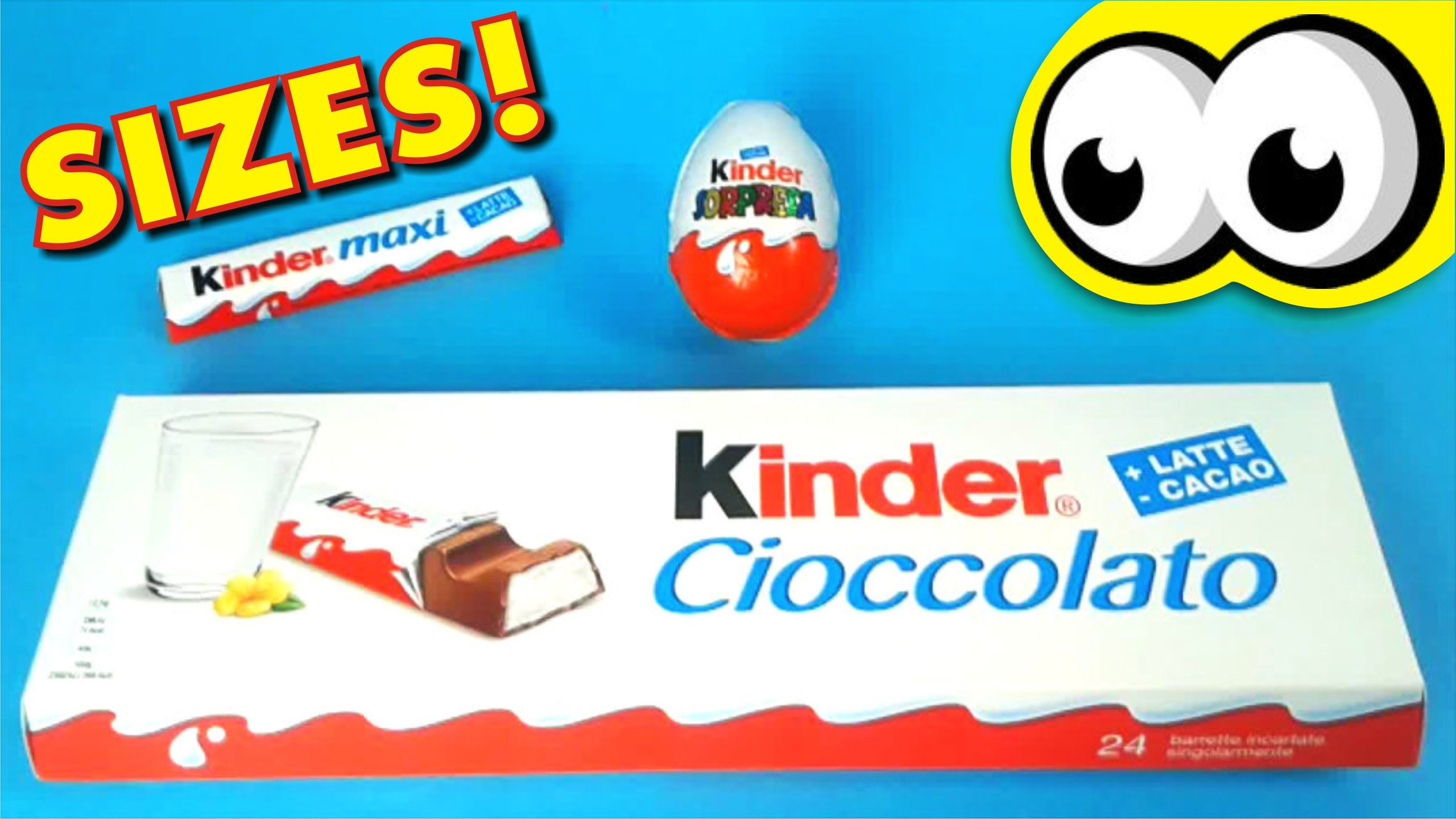 Kinder Maxi Big Pack Giant Kinder Chocolate Learn Sizes Big Bigger Biggest With
