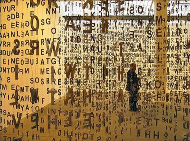 Spanish Sculptor Jaume Plensa Hangs Type On Bespoke Brought To You By Pinch A Design Office Cool Typography Typography Installation Art
