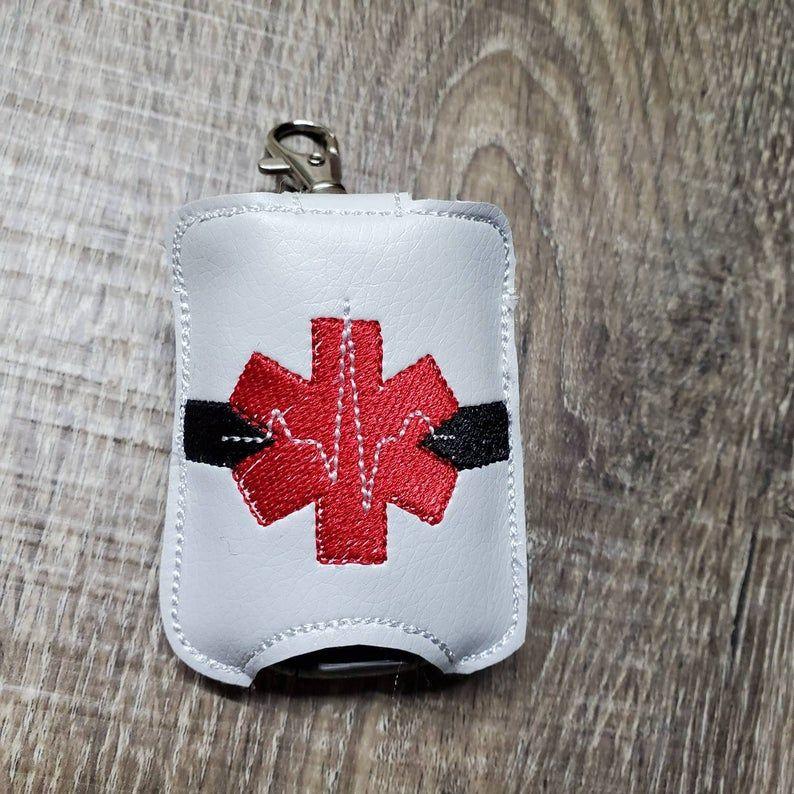 Ems Paramedic Medical Sanitizer Holder Keychain Hand Sanitizer