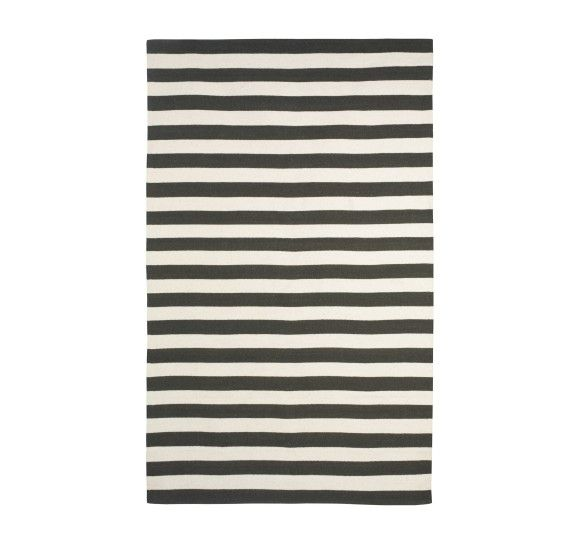 Charming Dwell Studio Draper Stripe Ink/Cream Rug (50% Off) Images