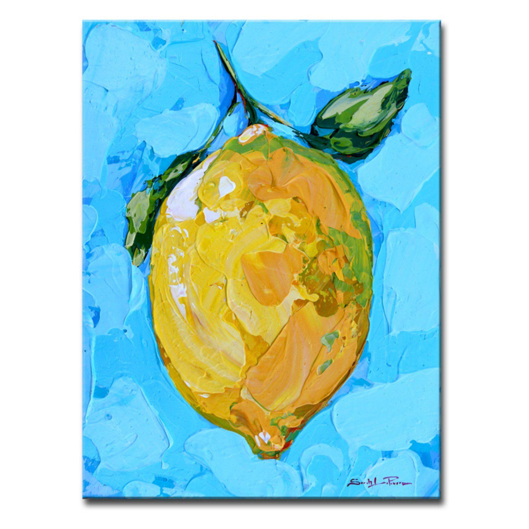 Ready2Hangart Citrus On Aqua Wrapped Canvas Art  Sl043 Gwc1612