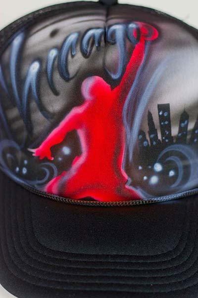 Custom chicago skyline graffiti snapback hat - Mindless Paint ... 269b9bd691bb