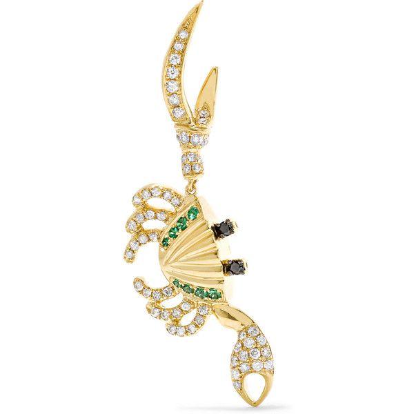 Yvonne Léon 18-karat Gold, Tsavorite And Diamond Earring