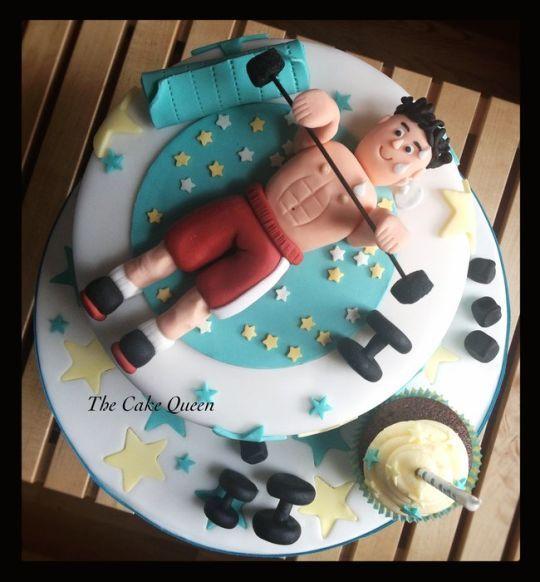 Cake, Sport Cakes, Gym Cake