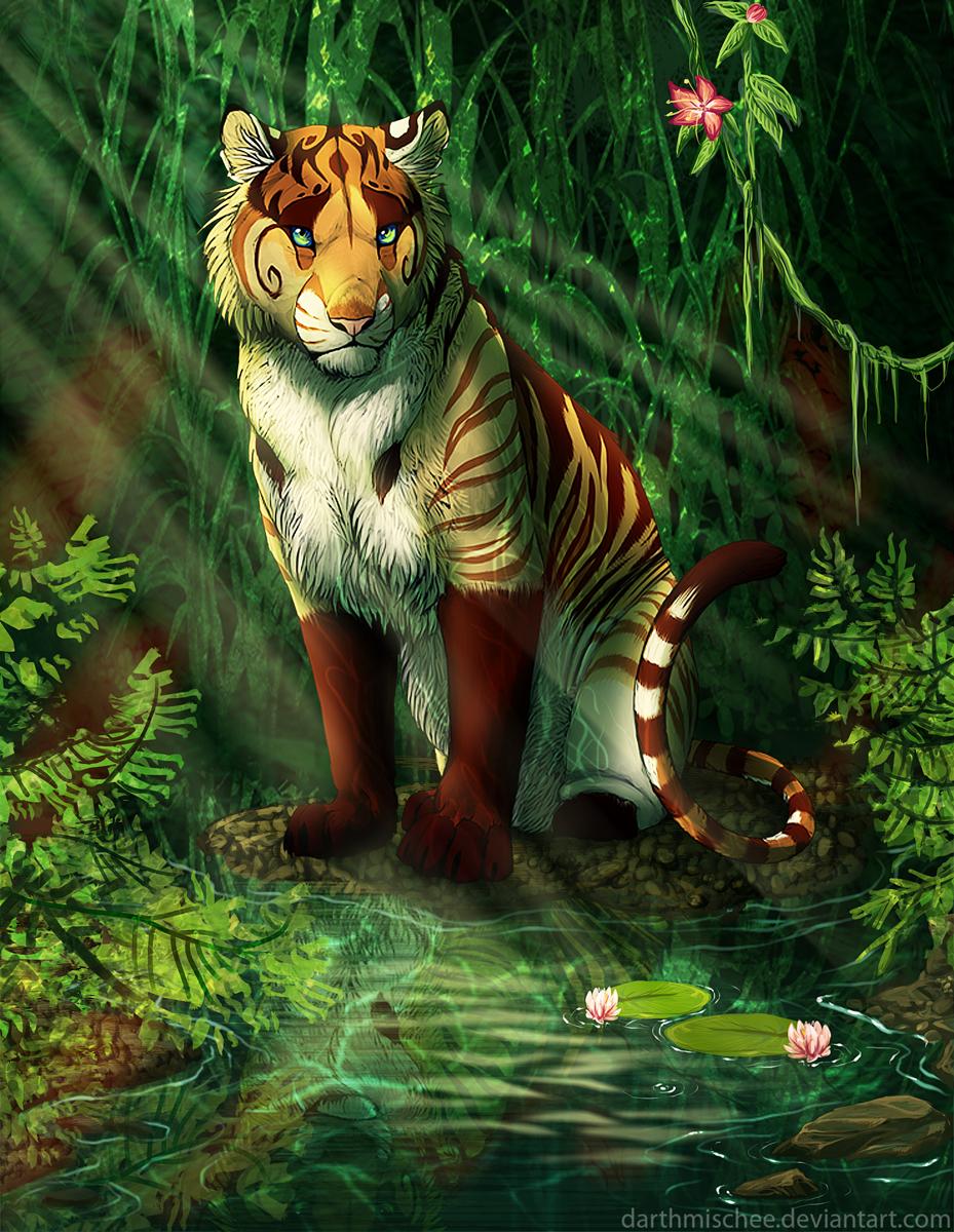 картинки фэнтези и тигры поставить