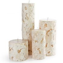 These Renewal Candles from Vance Kitira are gorgeous when lit and look beautiful during the Fall, Winter and Holiday seasons.  Available at Surroundings in Mattapoisett, MA.