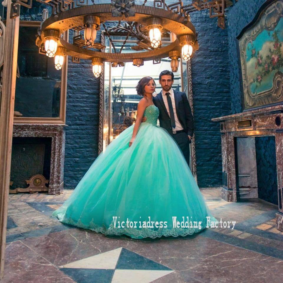 Vestidos De Novia Ball Gowns Open Back Tulle Middle East Bridal ...