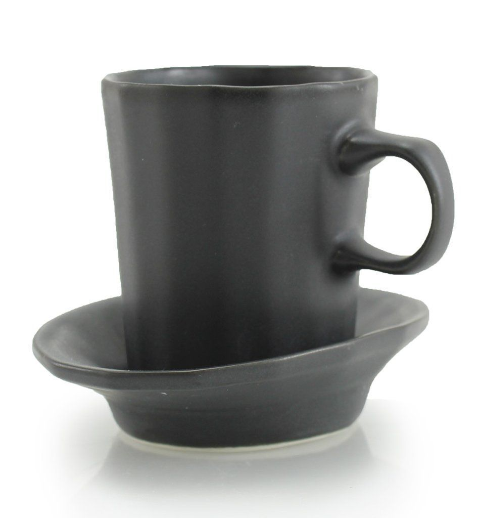 DoubleShot Espresso Cup and Saucer #espressoathome A little one-fingered cup for espresso, coffee or the double shot of your choice, with a saucer for a sidekick.  The Doubleshot Espresso Cup is the best way to enjoy espresso at home.  #thebrightangle #coffeetime #coffeelovers #coffeeaddict #coffee #coffeegift #espresso #espressocup #cerámica #ceramics #giftsforboyfriend #giftsforher #giftsforhim #giftsforgirlfriend #giftidea #giftguide #cerámica #陶瓷 #도기류 #도예 #espressoathome Doub #espressoathome
