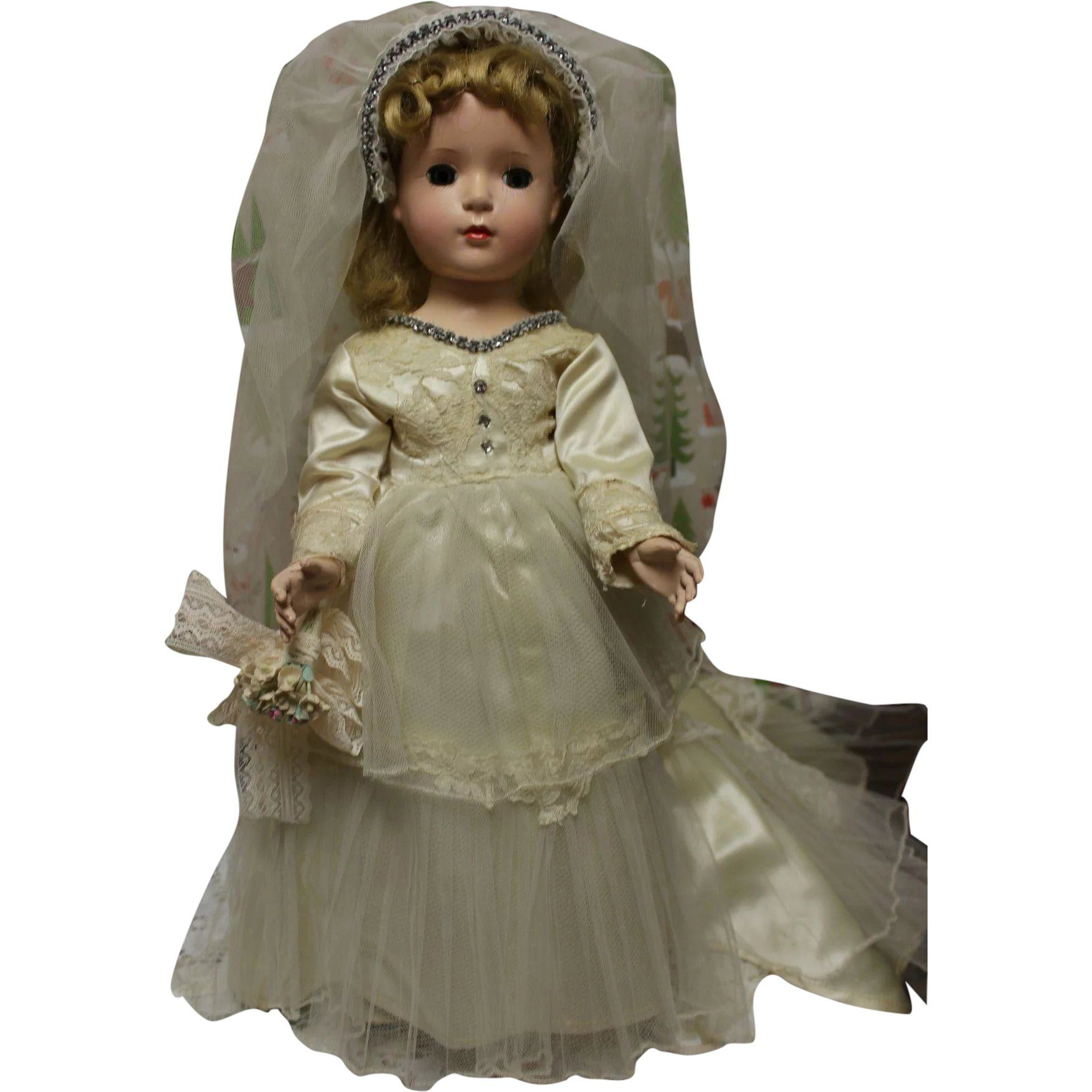 Madame Alexander Margaret bride doll in original bridal gown #bridedolls