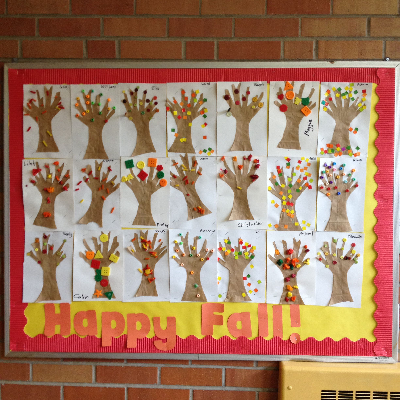 Fall Trees Bulletin Board For Preschool