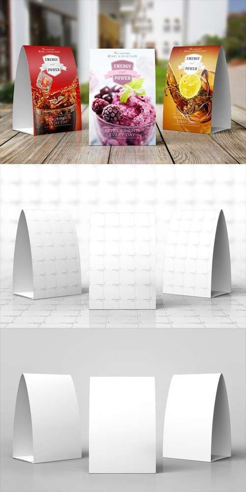 Paper Table Tent Mock-up Template More & Paper Table Tent Mock-up Template u2026 | Pinteresu2026
