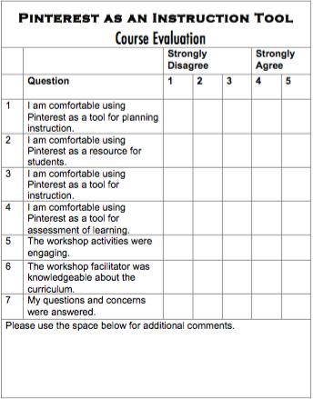 This Course Evaluation Form Was Adapted From The Following Source