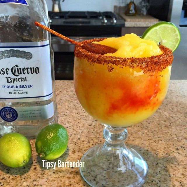 Mangoneda Cocktail - For more delicious recipes and drinks, visit us here: www.tipsybartender.com