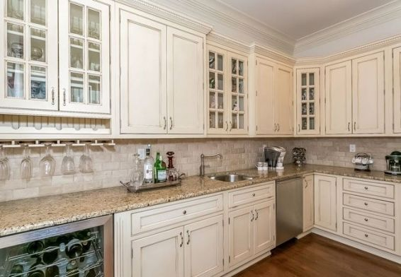 White Glazed Kitchen Cabinets Kitchen Furnitures In 2018