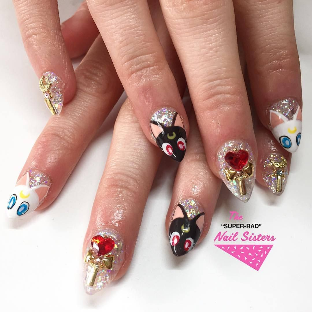 Blinged Up Sailor Moon Sailormoonnails Sailormoon