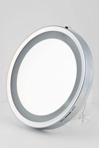 6英寸单面放大3倍led灯吸盘式化妆镜 浴室镜 淘宝网makeup Mirror