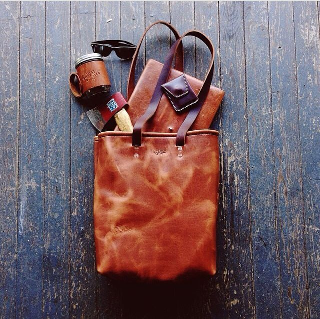 loyal stricklin leather tote