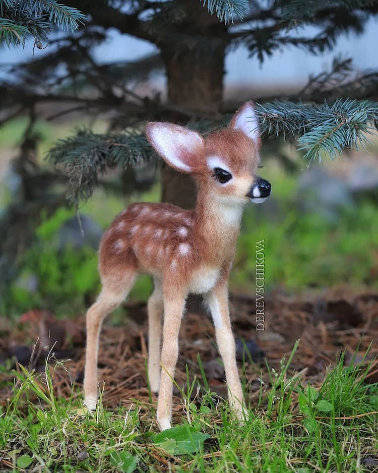 Artist Crafts Adorable Felted Animals from Wool That Will Make You Say Aww