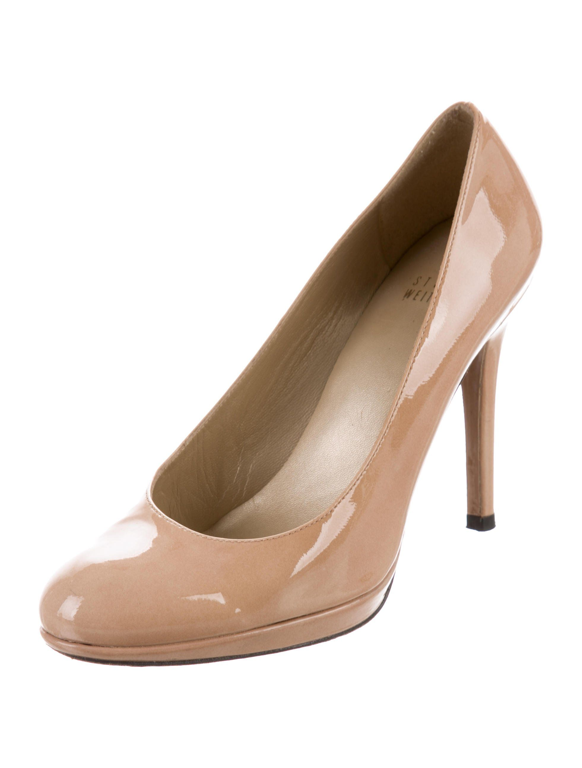 Naturalizer Womens Amie Nude Patent Peep Toe Heels Size 8