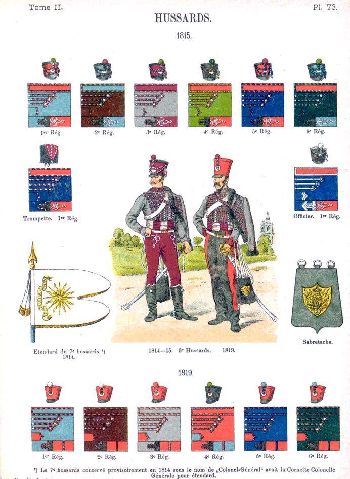Гусары. 1815 Uniformes de I'Armee Francaise 1690-1894 Lienhart & Humbert