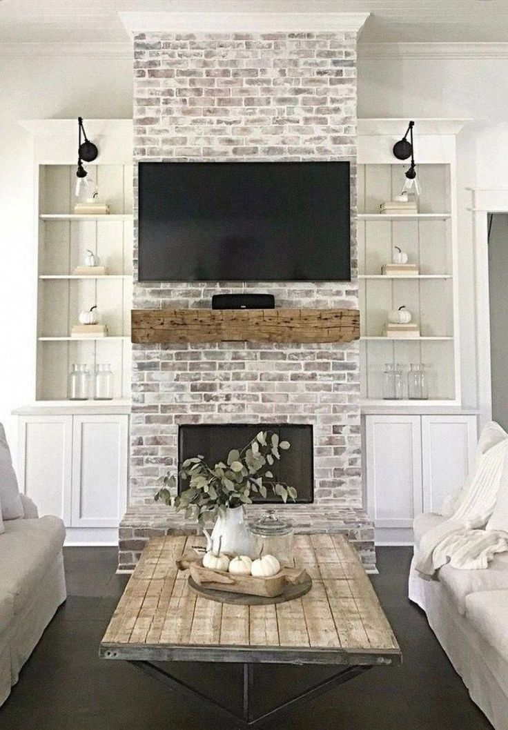 30 Cozy Modern Farmhouse 30 Cozy Modern Farmhouse Living Room Decorating Ideas with TV