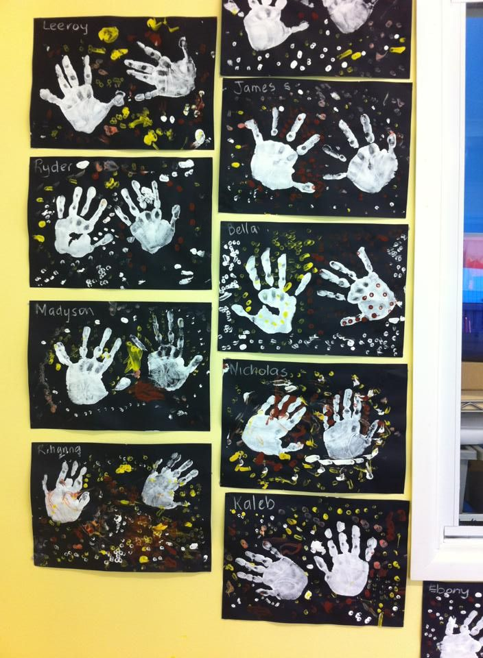 artwork of kindergarten children exploring indigenous art