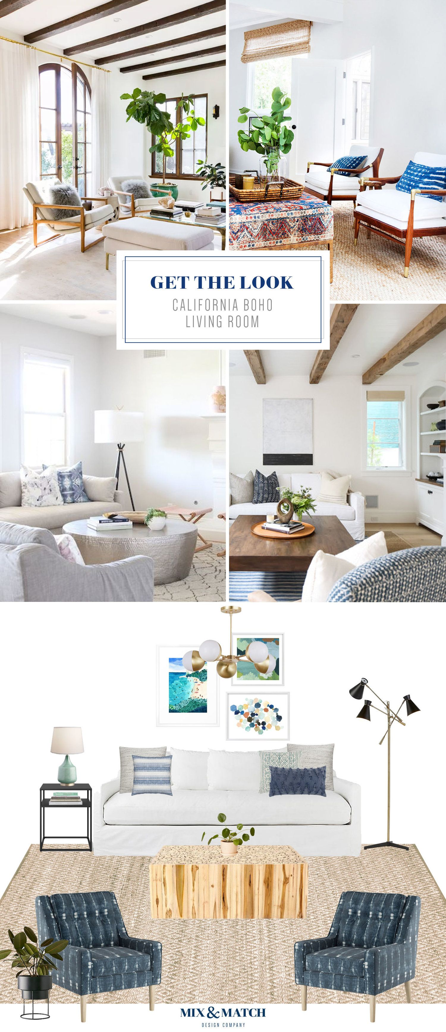 Get The Look California Boho Living Room Boho Living Room