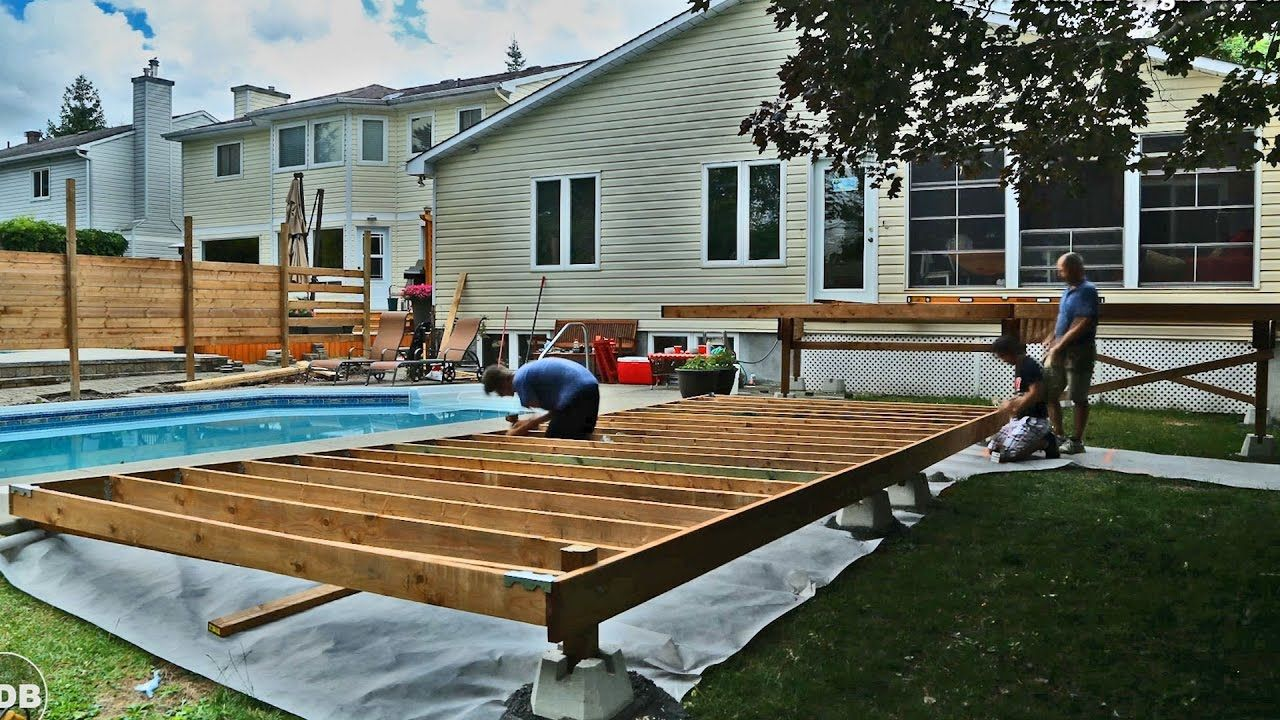 Diy How To Build A Floating Deck A To Z Youtube Building A Floating Deck Building A Deck Building A Shed