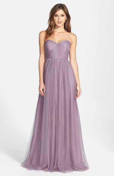 Jenny Yoo Annabelle Convertible Tulle Column Dress Available At Nordstrom Purple Bridemaids Dressesmismatched Bridesmaid