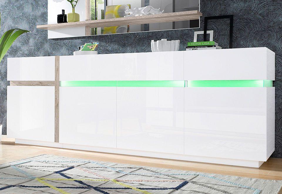 Sideboard, SCIAE, »Cross«, Breite 240 cm Jetzt bestellen - anrichte küche weiß