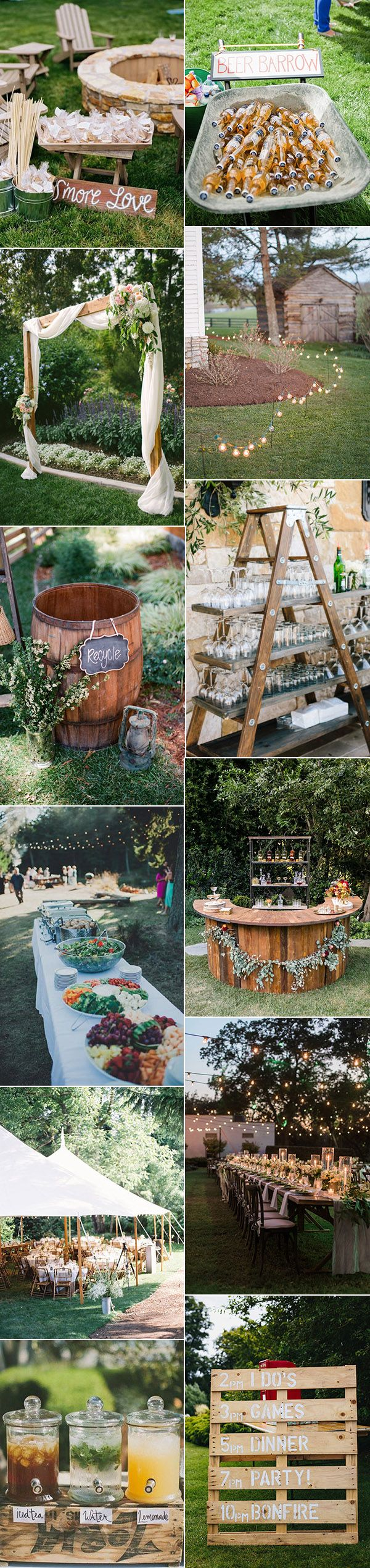 20 great backyard wedding ideas that inspire rustic backyard