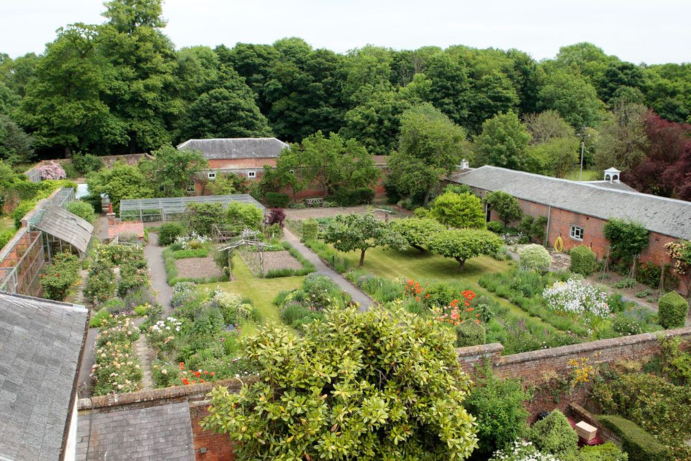 kitchen garden walled add flowers to one section perfect outdoor gardens landscaping on kitchen garden id=24672