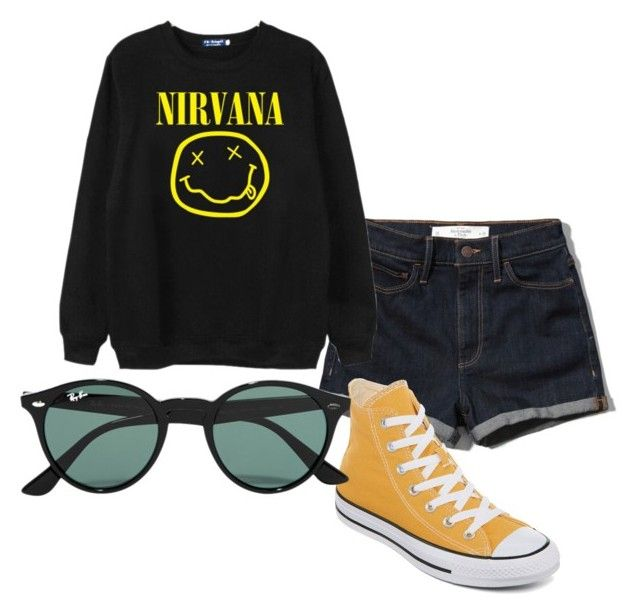 """Lithium"" by kuyuu on Polyvore featuring Abercrombie & Fitch, Chicnova Fashion, Converse and Ray-Ban"