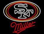 Miller San Francisco 49ers NFL Neon Sign, Miller with NFL Neon Signs | Beer with Sports Signs. Makes a great gift. High impact, eye catching, real glass tube neon sign. In stock. Ships in 5 days or less. Brand New Indoor Neon Sign. Neon Tube thickness is 9MM. All Neon Signs have 1 year warranty and 0% breakage guarantee.