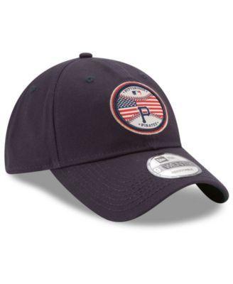 New Era Pittsburgh Pirates Americana Patch 9TWENTY Strapback Cap - Blue  Adjustable 5bc3bf30e