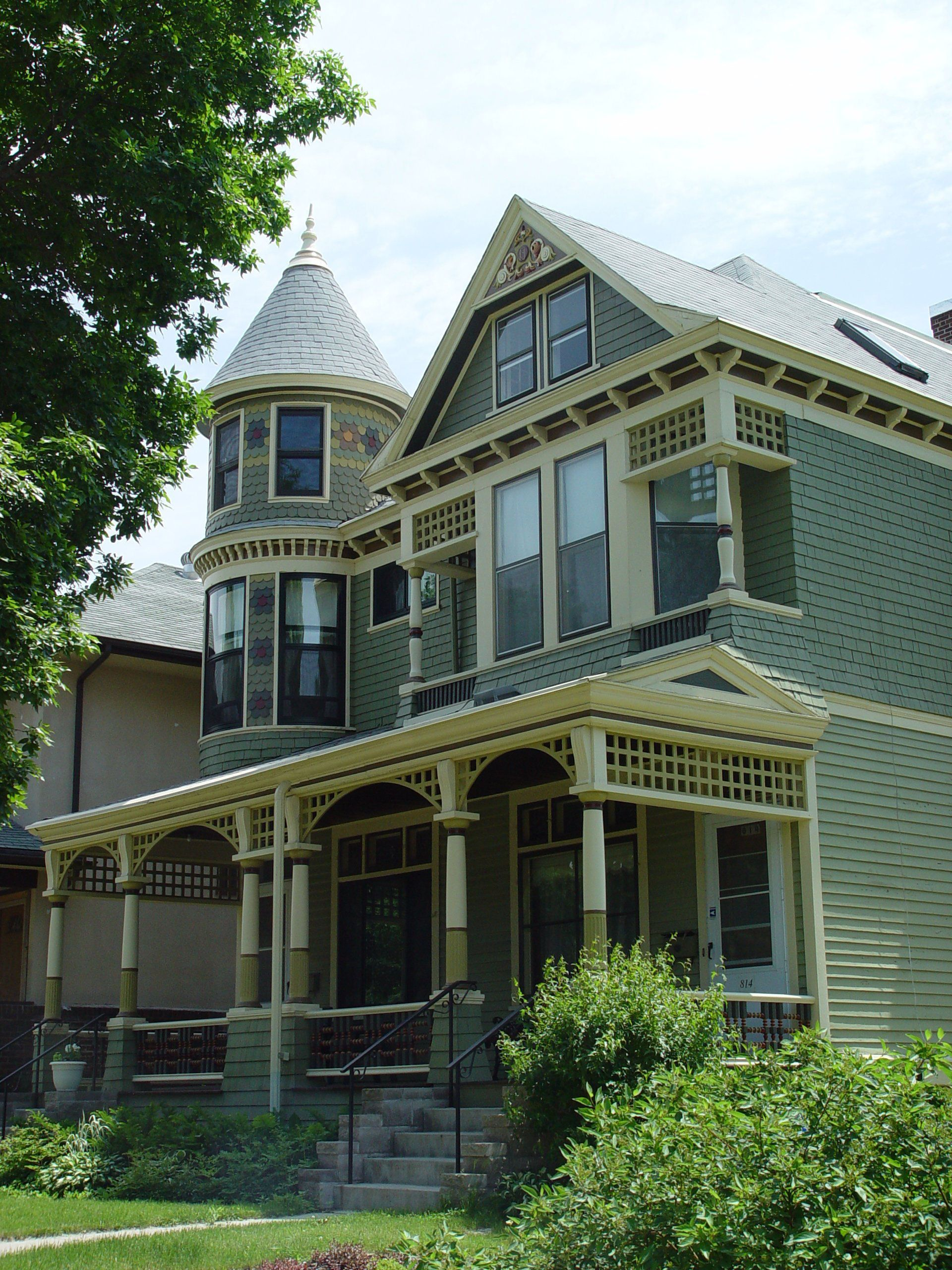 Restored Victorian Homes House Deck Amazing Buildings