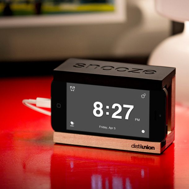 iphone snooze alarm clock home holzarbeiten pl ne und. Black Bedroom Furniture Sets. Home Design Ideas