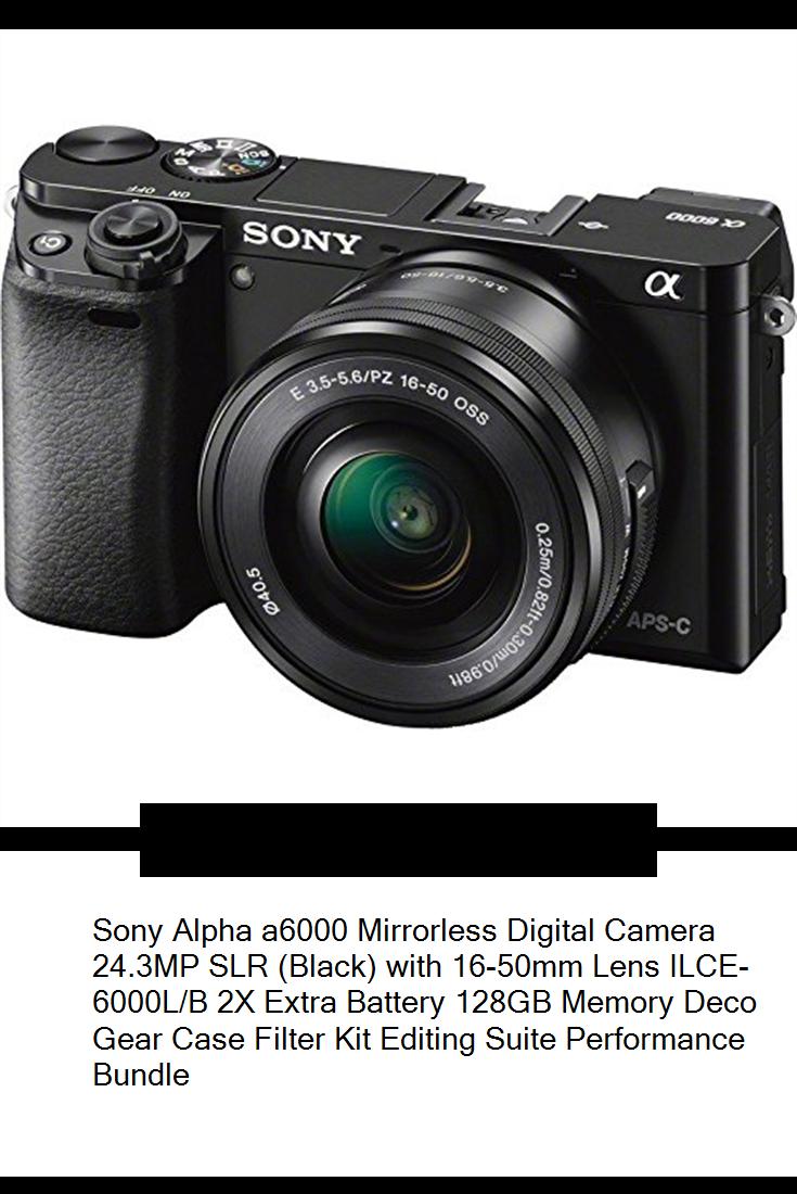 Sony Alpha A6000 Mirrorless Digital Camera 24 3mp Slr Black With 16 50mm Lens Ilce 6000l B 2x Extra Battery 128gb Me In 2020 Sony Alpha Digital Lenses Digital Camera