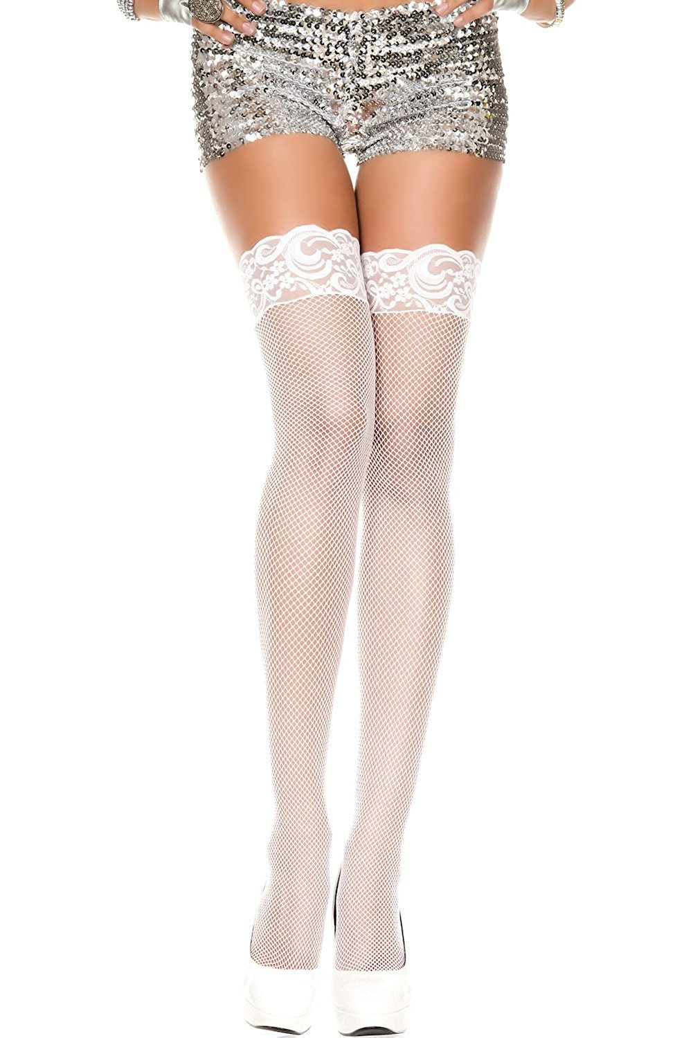 26519a093 Bridal White Stockings Hosiery Thigh Highs
